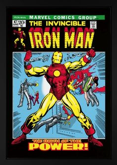 www.canvasgallery.com Stan  Lee The Invincible Iron Man #47 (Canvas)
