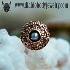 BVLA Rose Gold Nanda Nostril Screw with Pearl Center
