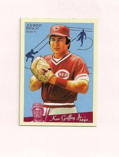 2008 Upper Deck Goudey No. 47, Johnny Bench, Cincinnati Reds, Excellent-NM