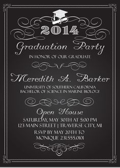97 best graduation invitations images on pinterest graduation chalkboard graduation invitations filmwisefo