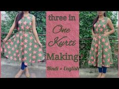 DIY Elastic Waist Dress With Extended Sleeves Cutting And Stitching Tutorial - YouTube
