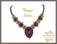 Beading Pattern: Venice Necklace in English D.I.Y
