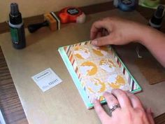 Part 2 - Samantha Taylor shows you step by step sponging techniques with mists from Lindy's Stamp Gang
