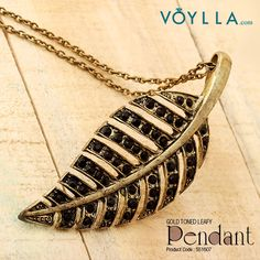 Get yourself graceful with this elegant leaf pendant! Product Code: 551607 #fashion #jewelry #voylla #alwaysbeautiful