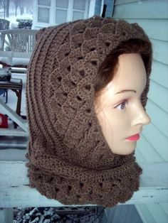 Hooded Crocodile Cowl by karenswimmer on Etsy, $60.00