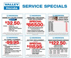 photograph relating to Honda Oil Change Printable Coupon titled 68 Ideal Valley Honda Bargains pics within just 2013 Honda