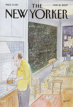 """The New Yorker, May Cover """"Simple Physics"""" by Sempé. The New Yorker, New Yorker Covers, Cover Pages, Cover Art, Capas New Yorker, Magazine Art, Magazine Covers, Magazine Cover Design, E Mc2"""