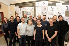 External designers and Flokk internal designers and employees at HÅG new chair workshop.
