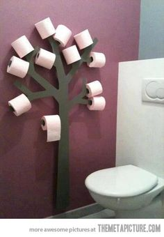 Now we'll never run out of paper...cute idea.