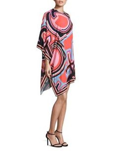 EMILIO PUCCI One-Shoulder Monogram Caftan Dress. #emiliopucci #cloth #dress