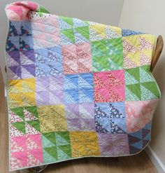 'Heavenly a half square triangle quilt by Allison Reid, New Every Morning Patchwork and Quilting New Every Morning, Book Pillow, Half Square Triangle Quilts, Quilt Sets, Quilting Projects, Baby Quilts, Heavenly, Scottie Dogs, Pillows