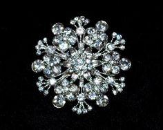 Rhinestone Snowflake Brooch [RB013] - $16.00 : Shine Trim