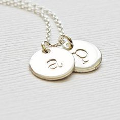 Tiny Silver Initial Letter Necklace - Perfect gift for New Mom, Mother's Day, Teen