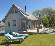 Oak Framed Houses - Your Carpenter Oak Frame House Tiny Cabins, Cabins And Cottages, Little Cottages, Little Houses, Oak Framed Buildings, Small House Living, Oak Frame House, Tiny Houses For Sale, Small Houses