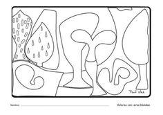 cuadros de paul klee para colorear - Buscar con Google