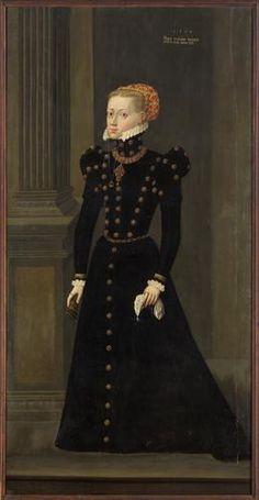 Maria of Bavaria, 1564  (Hans Schöpfer the Elder) (1505-1569)  Kunsthistorisches Museum, Wien,  GG 8179