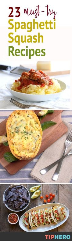 If you are like most of us, you may be a bit perplexed about what to do with a spaghetti squash. This round up of recipes proves there is more than one way to deliciously cook up this healthy squash. It's mild flavor makes it the perfect base for flavorful sauces and cooking styles from around the world. So go ahead, uh, squash those carb cravings with these must-try recipes. #healthyrecipes