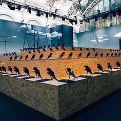 The set for Spring 2017 menswear show. Click the link in our bio for more highlights. Coach 1941, Highlights, Menswear, Vogue, Spring, Building, Link, Instagram Posts, Travel