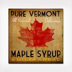 In case you needed any reminders to grab the fresh maple syrup, this handmade sign from Vermont will get your tastebuds turning and ready for delicious maple syrup. Comes ready to hang and will be a gr...  Find the Vintage Inspired Maple Syrup Road Sign, as seen in the Prints Collection at http://dotandbo.com/category/decor-and-pillows/for-the-wall/prints?utm_source=pinterest&utm_medium=organic&db_sku=DNB0665