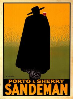 Porto & Sherry Sandeman 1931 ~ Fine-Art Print - Vintage Advertisements Art Prints and Posters - Vintage Advertisements Pictures Retro Poster, Poster S, Poster Prints, Vintage Advertising Posters, Vintage Advertisements, Vintage Posters, Vintage Wine, Vintage Ads, Vintage Food