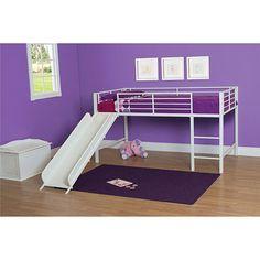 Lit mezzanine avec glissoire Junior - Blanc : Lits pour enfants - Best Buy Canada