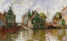 Claude Monet - Channel in Zaandam. I adore Monet's waterside paintings.