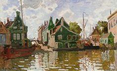 Claude Monet - Channel in Zaandam. I adore Monet's waterside paintings.