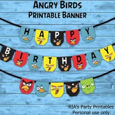 Angry Birds Printable Banner by RIAsPartyPrintables, $8.00