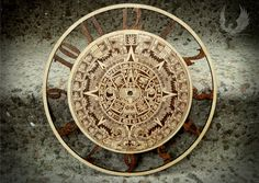 Wall clocks Aztec calendar on Etsy, $250.00