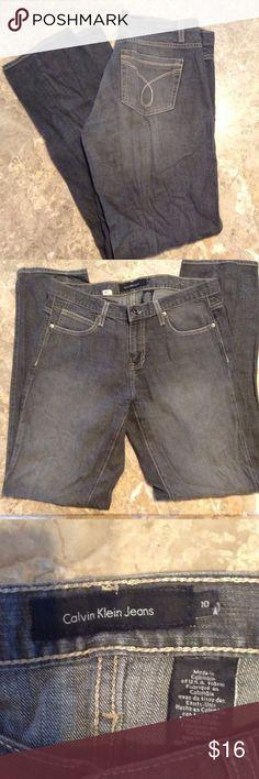 "Gray Calvin Klein Jeans sz 10 Rise 9 1/2"" & inseam 32 1/2"".  Bundle 3 or more & save! Calvin Klein Jeans Jeans"