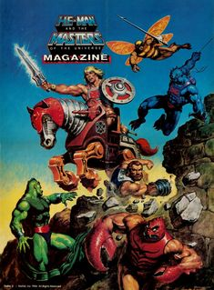 Throwback Thursday #TBT: Masters of the Universe Magazine Posters - Rediscover the 80s