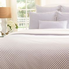 Bedroom inspiration and bedding decor | The Page Blue Duvet Cover | Crane and Canopy