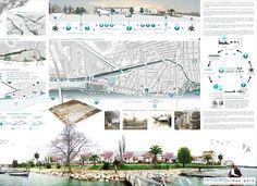 Presentation Board Design, Architecture Presentation Board, Project Presentation, Architecture Panel, Landscape Architecture, Landscape Design, Architecture Design, Urban Design Diagram, Design Competitions