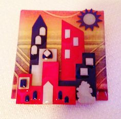 Vintage House Pins by Lucinda Urban Scene City by nikkisuniques