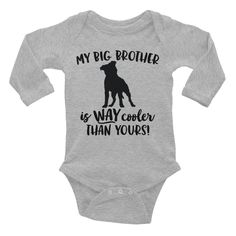 Big Brother Pitbull Infant Long Sleeve Bodysuit