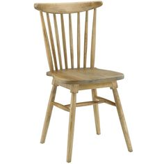 Durable Solid Elm Wood Dining Side Chair