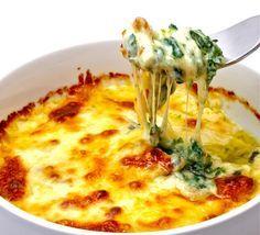 Σουφλέ με σπανάκι και κρέμα τυριού