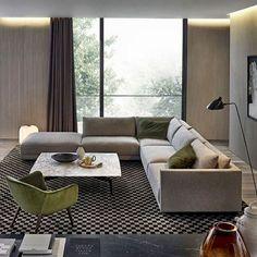 Beautiful and comfort modern corner sofa for living room Corner Sofa Living Room, Corner Sofa Set, Room Corner, Living Room Interior, Living Room Decor, Interior Architecture, Interior Design, Sofa Furniture, Sofa Design