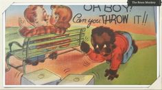 """Vintage Full Color """"Oh Boy! Can You Throw It!!"""" Postcard Black Americana Made In The U.S.A. 1940's Boy Shooting Dice Young Couple 310 by BrassMonkeyResale on Etsy"""