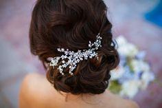 Freshwater pearl vines hair comb - vines can be shaped to the curve of your hair style - by One World Designs Bridal Accessories