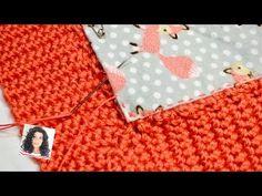 How To Hand Sew Lining To A Crochet/ Knit Blanket | No Sewing Machine | Mitered Corner - YouTube Hand Knitting Yarn, Baby Knitting, Knitting Patterns, Crochet Patterns, Thread Crochet, Crochet Yarn, Crochet Stitches, Tunisian Crochet, Free Crochet