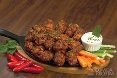 Receita de Buffalo Wings (coxinha de frango) com cerveja em receitas de aves, veja essa e outras receitas aqui!