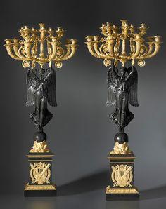 Arts décoratifs Premier Empire - Paire de candélabres Premier Empire, attribués à Thomire (coll. privée)