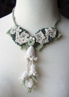 Crochet Necklace Art Nouveau Cashmere and Silk by meekssandygirl, via Flickr