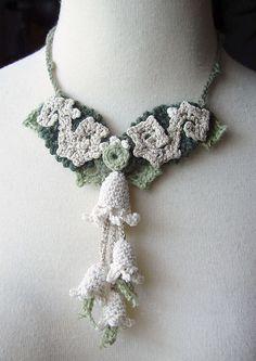Crochet Necklace Art Nouveau Cashmere and Silk by meekssandygirl, via Flickr