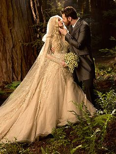 internet billionaire, Sean Parker, with his bride Alexandra ~ Tolkein-style wedding in a protected redwood grove in California's Big Sur state park Princess Wedding Dresses, Colored Wedding Dresses, Best Wedding Dresses, Wedding Themes, Wedding Gowns, Wedding Photos, Wedding Ceremony, Reception, Enchanted Forest Wedding
