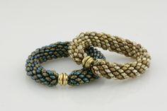 Free SuperDuo Spiral Bracelet Tutorial | Eureka Crystal Beads Blog