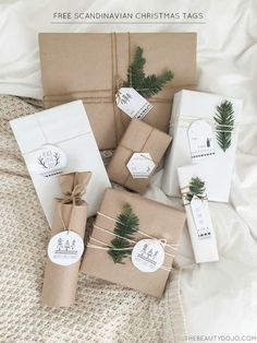 Free Printable Scandinavian Christmas Tags More
