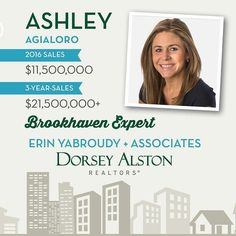 Meet the Team: Ashley Aglialoro  In three short years Ashley quickly joined the rank of Top Producer with the best of them averaging over $10 Million in sales a year. Shes quick sharp and a shark negotiator. Her heart of gold and bedside manner makes her a star player in the industry and a favorite of clients. Working with her is a joy and she knows how to get the job done time and time again. With an average of 15 days on the market for her listings and local information for buyers she…