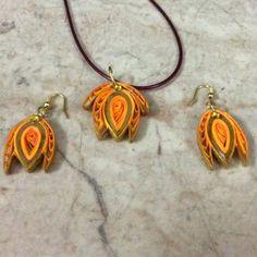 J 31 - Quilled earrings & pendant - 1.5in (www.sumarts.biz)